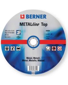 MEULE A TRONCONNER METAL MOYEU PLAT 125X1,6X22,23 TOP